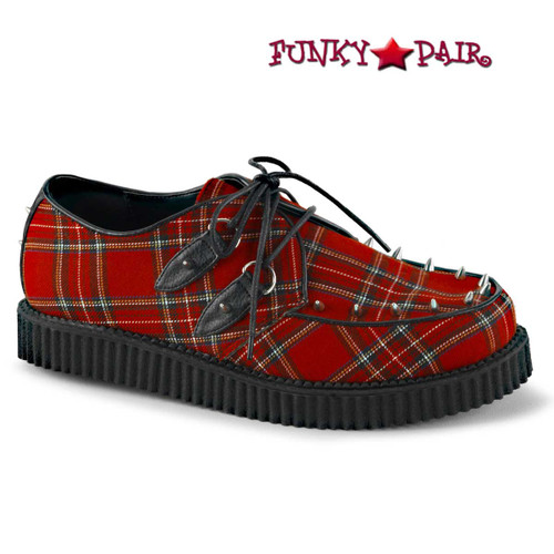 Demonia Shoes | Creeper-603, Platform Plaid Creeper