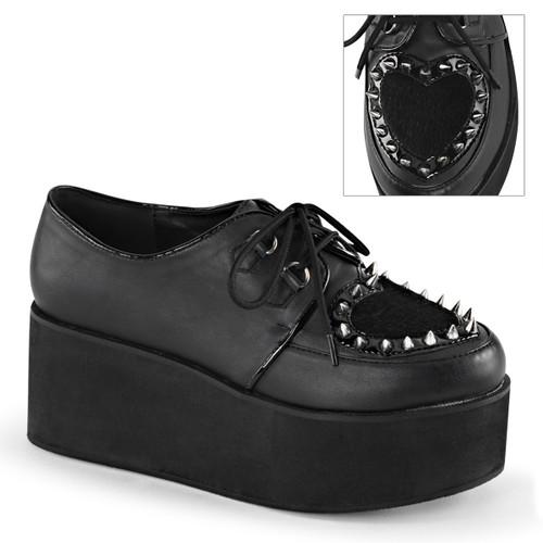 Goth Spikes Maryjane Shoes Demonia | Grip-02