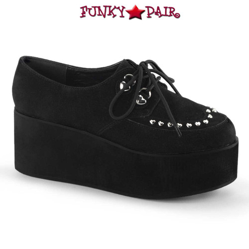 Women's Demonia | Grip-03, Heart Shape Studds Maryjane