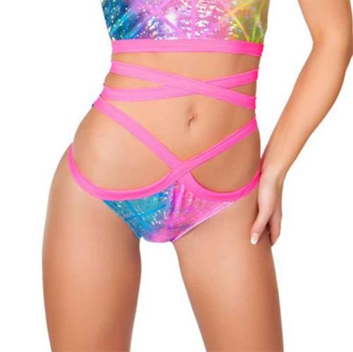 J. Valentine | FF665, Rave Wrap Shorts Color available: Alien, Tie Dye, Diamond Hologram, Black Twinkle, Red Twinkle, Blue Galaxy