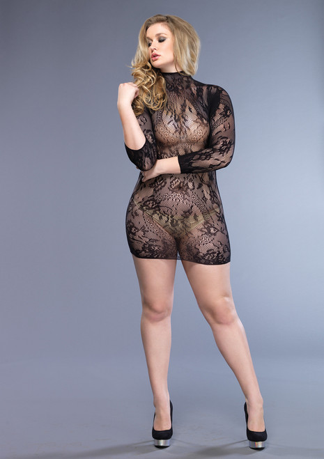 LA86571Q Floral lace mini dress