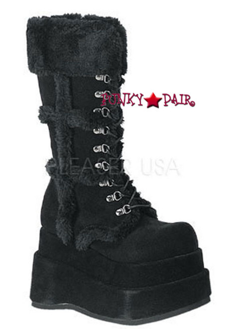 Demonia | BEAR-202, black goth Women gothic boots