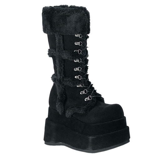 "BEAR-202, Women""s Black Goth Boots Demonia"