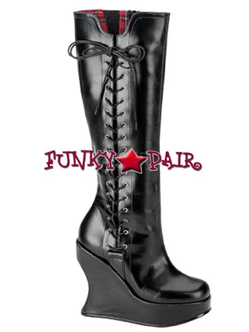 Women's Demonia Boots Bravo-100 Goth Punk Lolita Wedge Boots