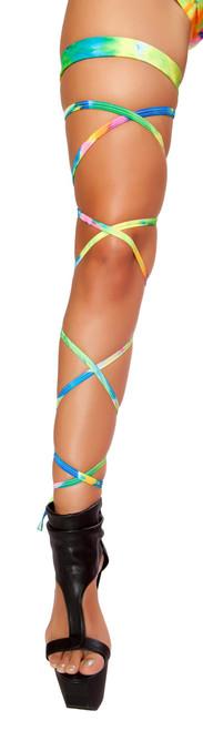 R-3323, Tie Dye Leg Wrap