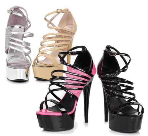 """609-Aurore, 6"""" Dancer Strappy Sandal   Ellie Shoes"""