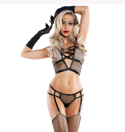 SL6101, Fishnet Bralette Set