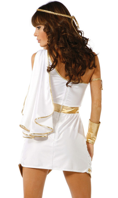 Sexy Goddess costume includes: Headband, Dress, Armband and Wristlets. (Necklace not included)