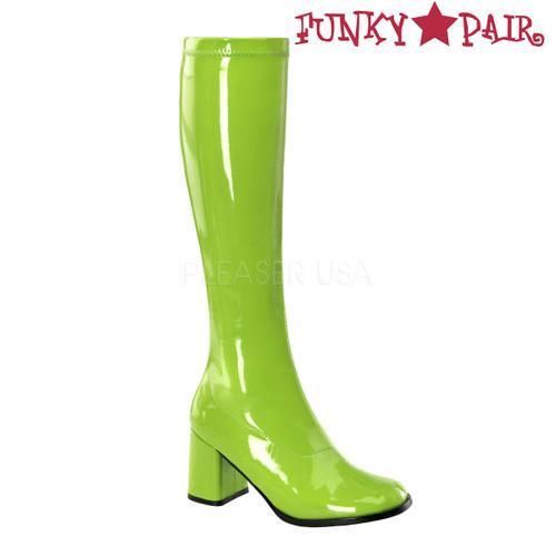 Lime GoGo-300 Women's GoGo Boots | Pleaser
