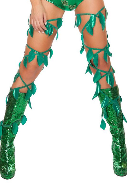 R-4642 Green leaf thigh wraps