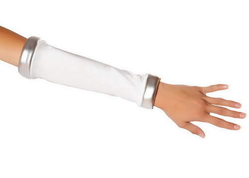 R10077GL White with Silver trim Gloves