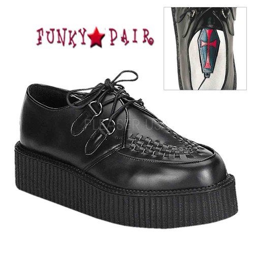 Demonia | Men Creeper-402L, Leather Basic