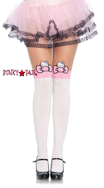 HK7955, Hello Kitty Character Bow Pantyhose
