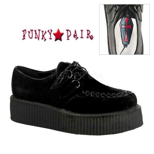 Demonia V-Creeper-502S, Men's Creeper Shoes