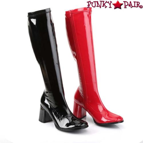Funtasma | GOGO-300HQ, Dual Color Black/Red Gogo Boots