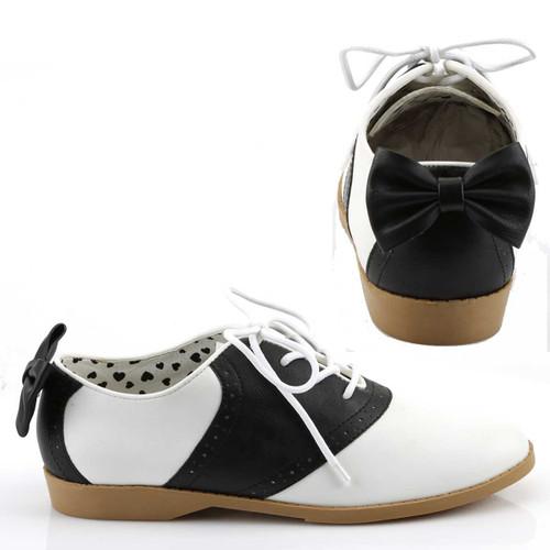 Saddle-53, Saddle Shoes with Bow | Funtasma