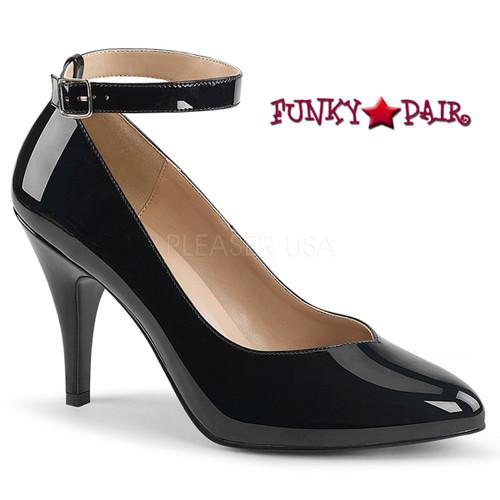 Pink Label | Dream-431 Crossdresser Heels Plus Size 9-17 color black patent