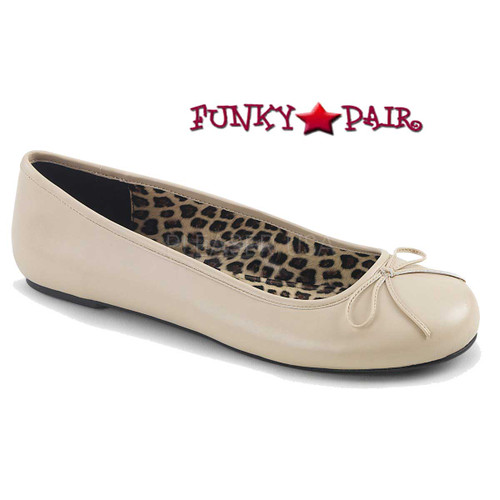 Pink Label | Anna-01, Adult Ballet Fat with Bow Size 9-16 color Cream