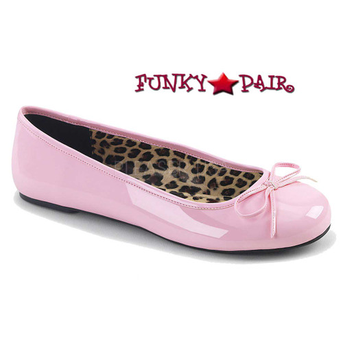 Pink Label | Anna-01, Adult Ballet Fat with Bow Size 9-16 Color baby Pink