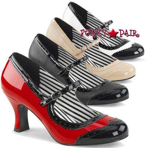 Pink Label | Jenna-06, Spectator Maryjane Pump Size 9-16