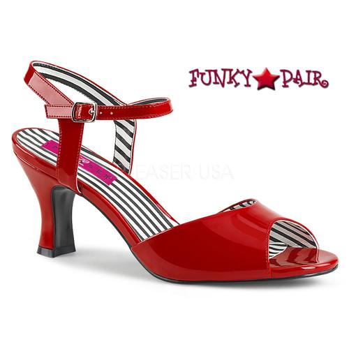 Red 3 Inch Sandal Plus Size 9-16 Pink Label   Jenna-09