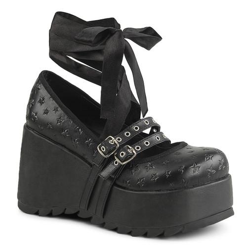 Scene-20, Platform Maryjane Shoe by Demonia