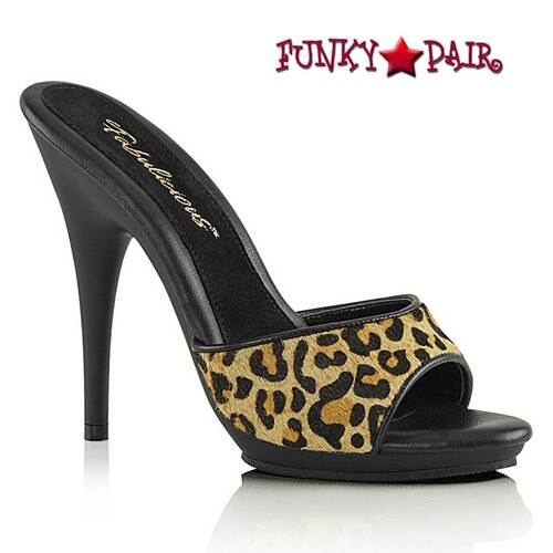 "5"" Leopard Print Fur Slide by Fabulicious Poise-501FUR"