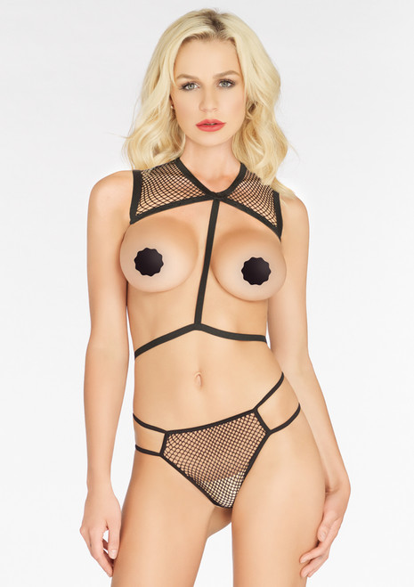 LA81538, Net Body Harness with G-string