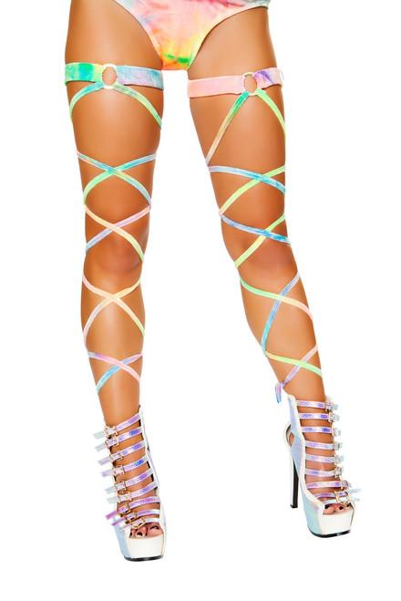 R-3495, Velvet Tie Dye Leg Strap