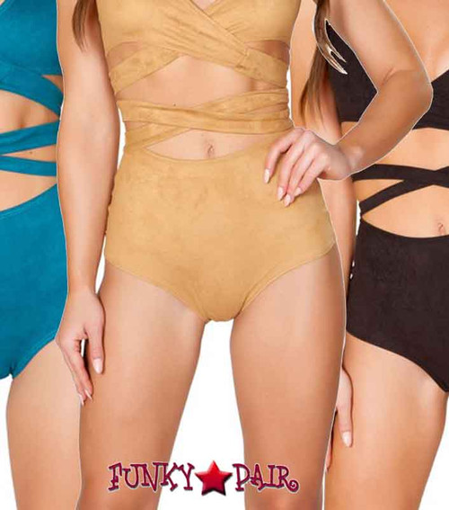 JV-FF693, Faux Suede High-Waist Short color available: Black, Honey, Teal
