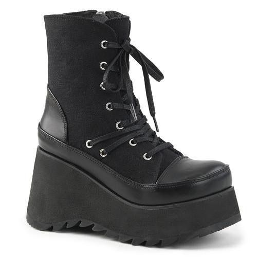 Scene-50, Gothic Vegan Platform Ankle Boots by Demonia