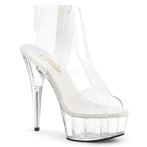 Delight-633, 6 Inch Heel T-Strap Booties