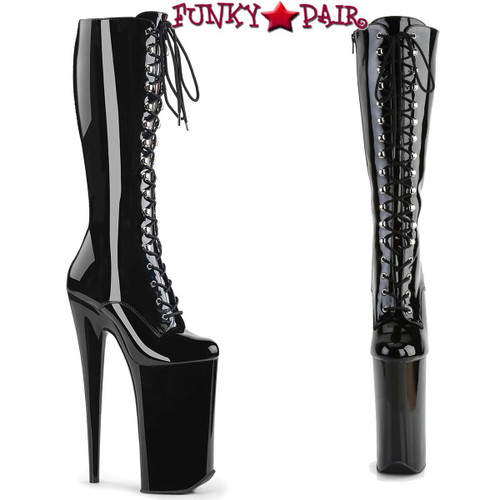 "Pleaser | Beyond-2020, 10"" Extreme High Heel Knee High Boots"