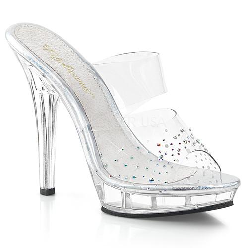 Lip-102SD, 5 inch high heel with Multi Rhinestones on Vamp