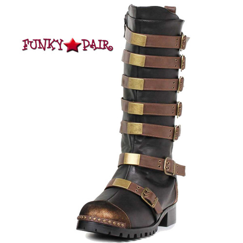 Men Multi Buckle Boots 158-Punk Brown