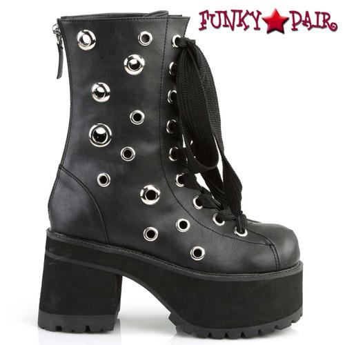 Demonia   Ranger-310, Gothic Eyelets Ankle Boots