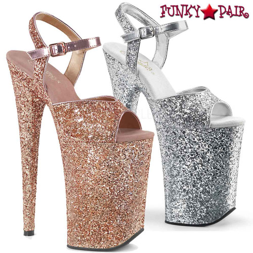 Pleaser | Infinity-910LG, 9 Inch Exotic Dancer Shoes  | FunkyPair.com
