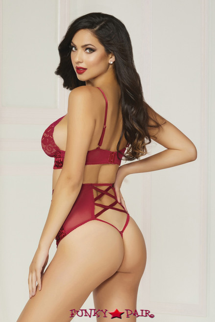 STM-10817, Crushed Velvet Bralette and High Waisted Panty