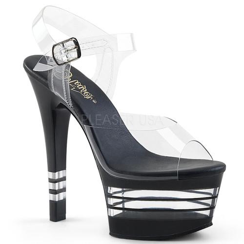 Aspire-608LN, 6 Inch High Heel Lined Platform Sandal