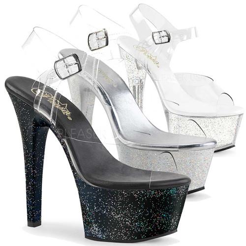 Holographic Glitter Platform Stripper Shoes Aspire-608MG