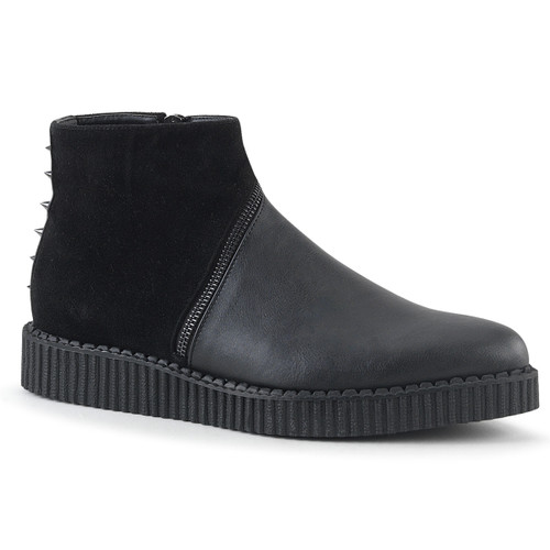 V-Creeper-750, Pointed Toe Ankle Boots Creeper Demonia | Men