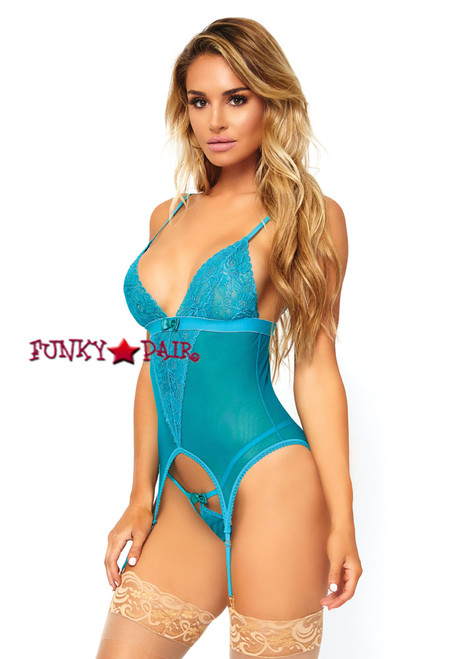 LA-89162, Lace Cami Garter and G-string