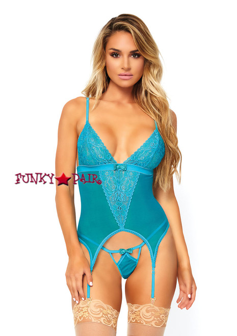 LA89162, Lace Cami Garter and G-string