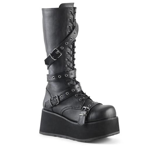 Trashville-520, Gothic Punk Platform Knee High Boots Demonia | Men