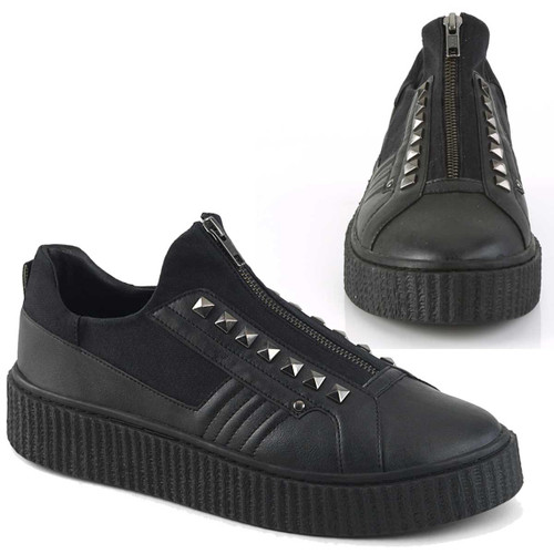 Men's Creeper Sneeker-125 with Pyramid Stud by Demonia