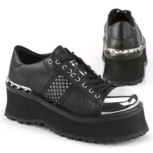 Gravedigger-02, Punk Goth Oxford Shoes Men's Demonia