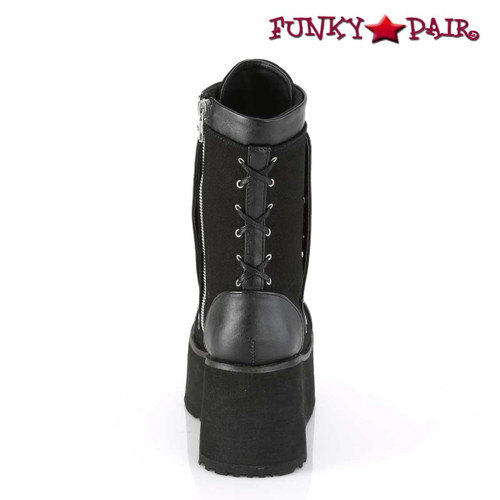 Clash-206, Wedge Mid Calf Boots Women's Demonia  back view