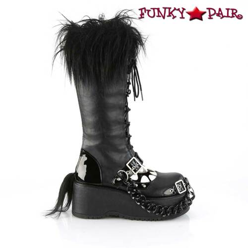 Women Demonia Dolly-130, Platform Monster Knee High Boots side view