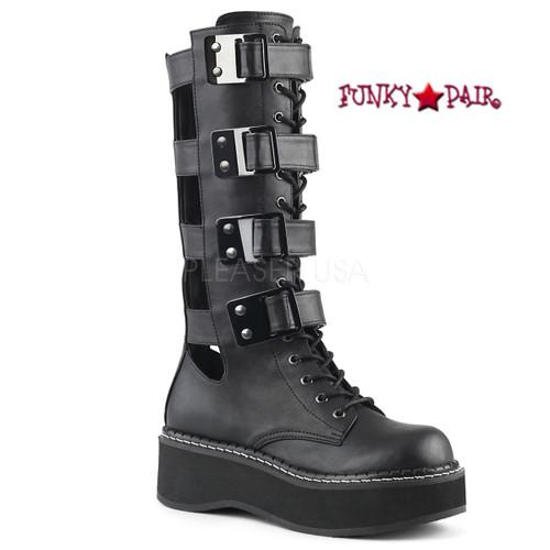 Emily-359, 2 Inch Platform Knee High Boots