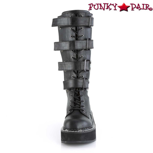 Women's Demonia Emily-359, Platform Knee High Boots front view